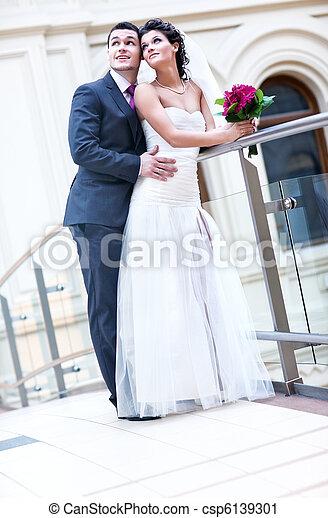 夫婦, 年輕, 婚禮 - csp6139301