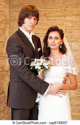 夫婦, 年輕, 婚禮 - csp6139337