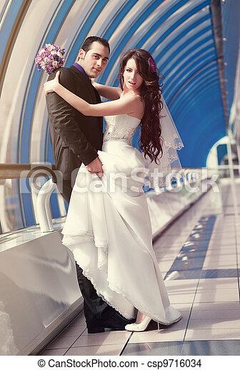 夫婦, 年輕, 婚禮 - csp9716034