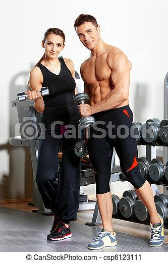 夫婦, 體操 - csp6123111