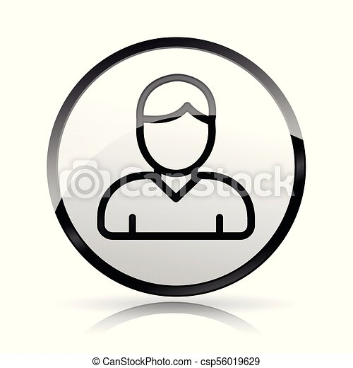头, 图标, 白的背景, 人 - csp56019629