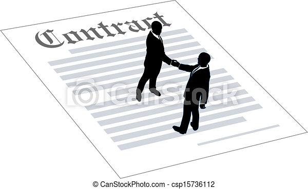 契約, 人々, 合意, ビジネス 印 - csp15736112