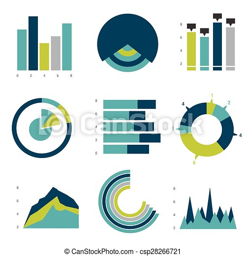 套間, 圖表, 矢量, graphs., design. - csp28266721