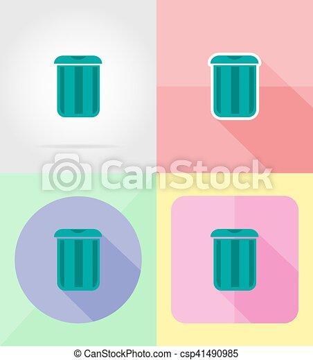 套間, 圖象, 插圖, 矢量, 設計, 罐頭, 垃圾 - csp41490985