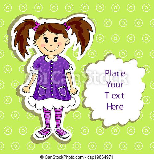 女の子, カード - csp19864971