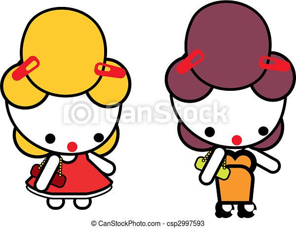 女の子 ベクトル イラスト 人形 ピン イラスト 50s 岩 女の子