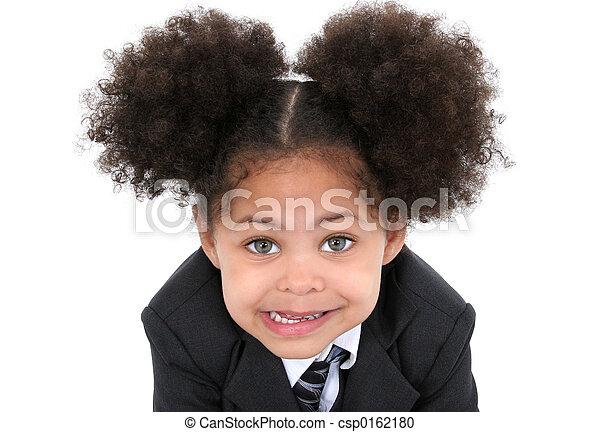女の子, 子供, スーツ - csp0162180