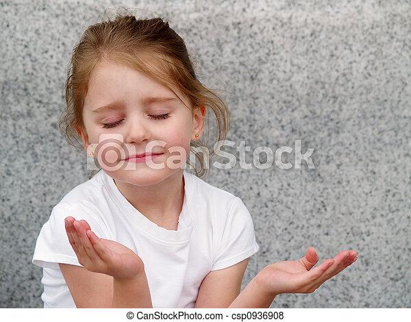 女の子, 祈ること - csp0936908