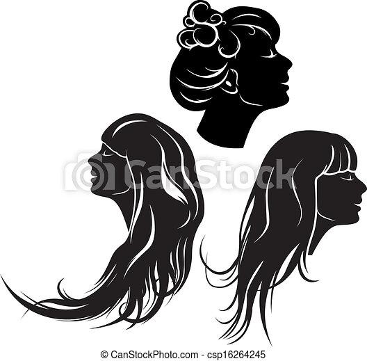 女の子, 美しい, プロフィール - csp16264245