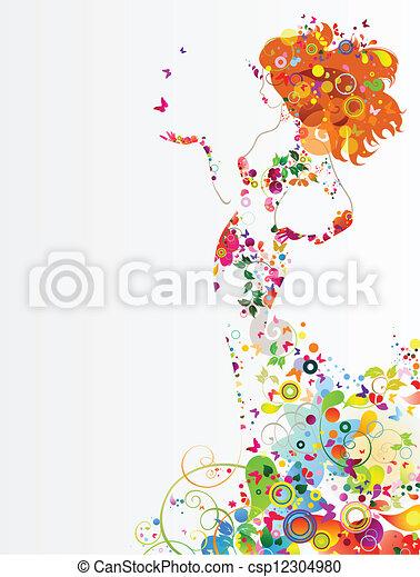 女の子 - csp12304980