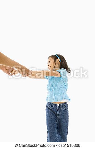 女の子, father. - csp1510308