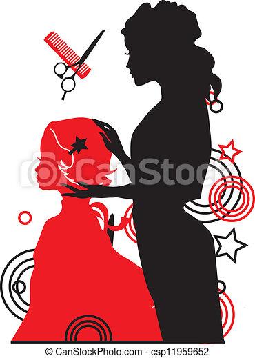 女孩, 矢量, 理发师, 描述