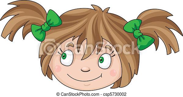 女孩, 脸 - csp5730002