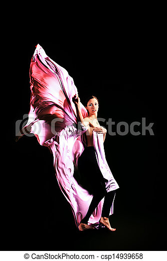 女孩, 跳舞 - csp14939658