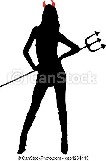 女性の悪魔 - csp4254445