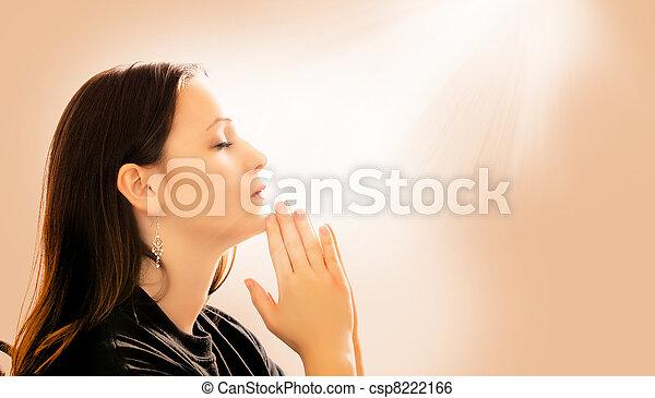 女性の祈ること - csp8222166