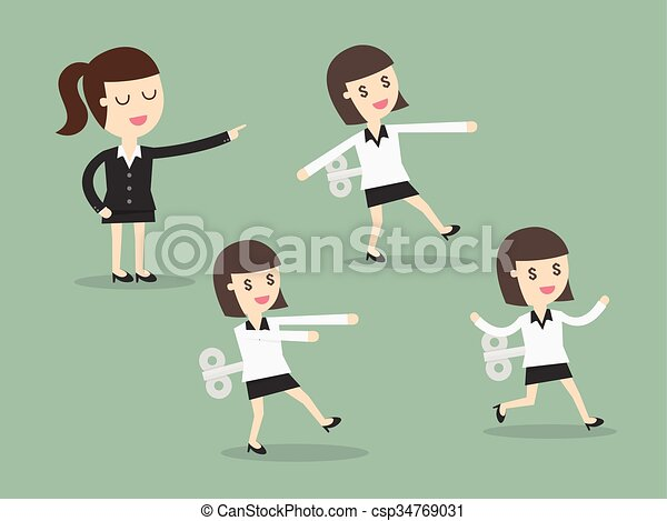 女性ビジネス, 機械 - csp34769031