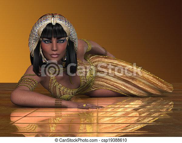 女性司祭, エジプト人 - csp19388610