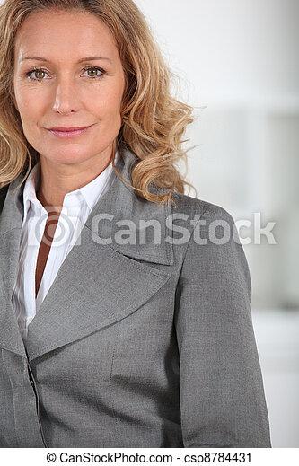 女性実業家, クローズアップ - csp8784431