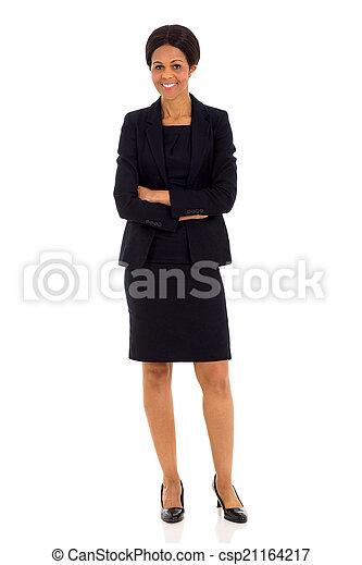 女性実業家, 年齢, 中央の, アフリカ - csp21164217