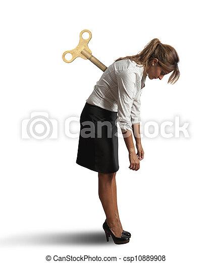 女性実業家, 疲れた - csp10889908