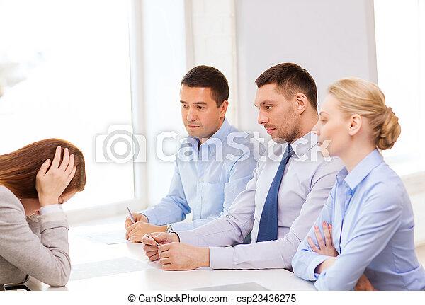 女性実業家, 発射される, オフィス, 得ること - csp23436275