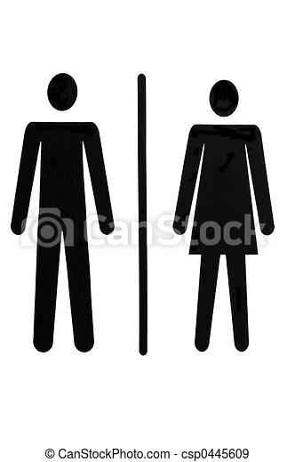 女性, 紳士 - csp0445609