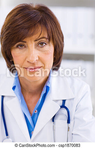女性, 運作的 辦公室, 醫生 - csp1870083