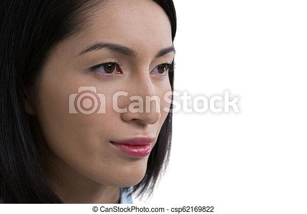 女, クローズアップ, 美しい - csp62169822
