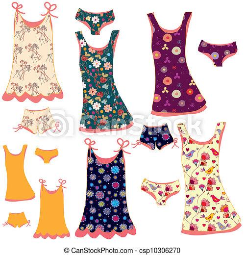 女, パターン, セット, シャツ, ファッション, ズボン