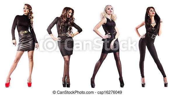女, ファッション, 構造 - csp16276049