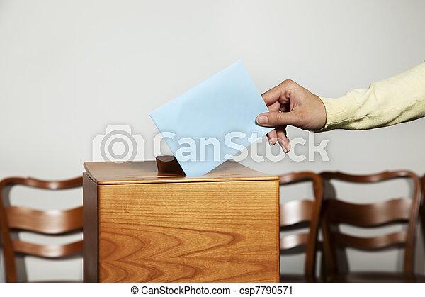 女, ブース, 投票 - csp7790571