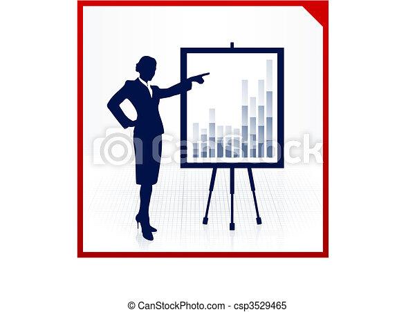 女, プレゼンテーション, ビジネス - csp3529465