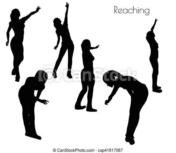 女 ポーズを取りなさい 手を伸ばす 10 女 手を伸ばす ポーズを