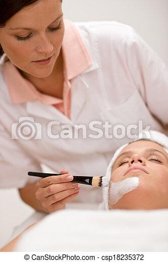 女, マスク, 美容院, -, 美顔術 - csp18235372