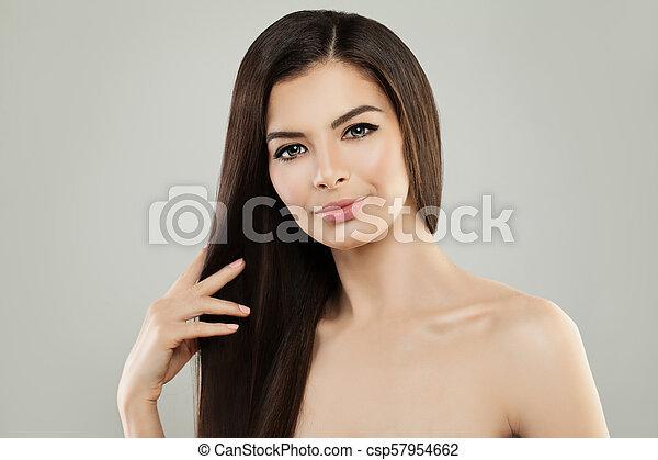 女, 健康, 若い, girl., 皮膚, エステ - csp57954662