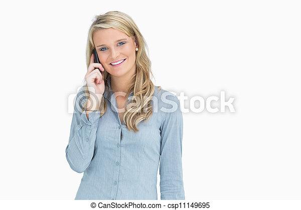 女, 呼出し - csp11149695