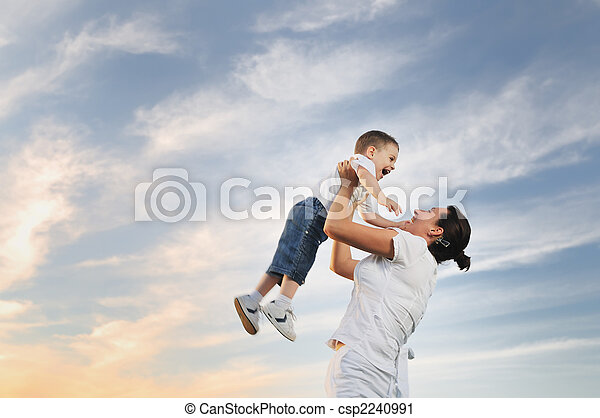女, 屋外, 子供 - csp2240991