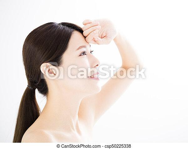 女, 概念, 若い, 心配, 皮膚 - csp50225338