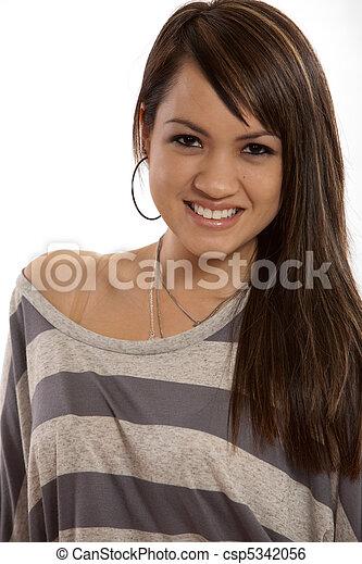 女, 現代, 若い, フィリピン人, 成人 - csp5342056