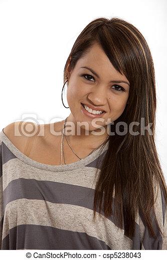 女, 現代, 若い, フィリピン人, 成人 - csp5238043