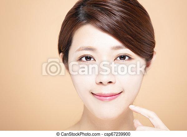 女, 自然, 構造, 若い, きれいにしなさい, 皮膚 - csp67239900