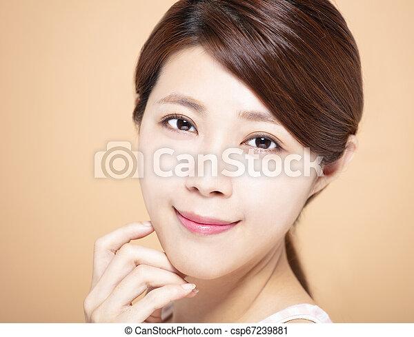 女, 自然, 構造, 若い, きれいにしなさい, 皮膚 - csp67239881