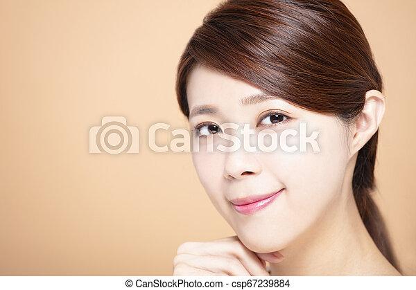 女, 自然, 構造, 若い, きれいにしなさい, 皮膚 - csp67239884