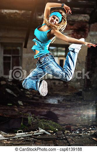 女, 若い, ダンス - csp6139188