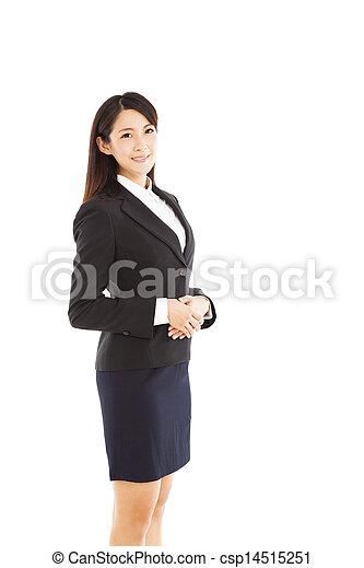 女, 若い, ビジネス, アジア人 - csp14515251