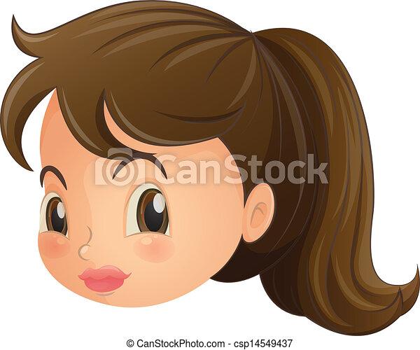女, 若い, 顔 - csp14549437