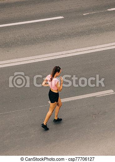 女, 訓練, 通り - csp77706127