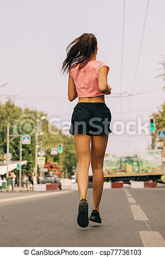 女, 訓練, 通り - csp77736103