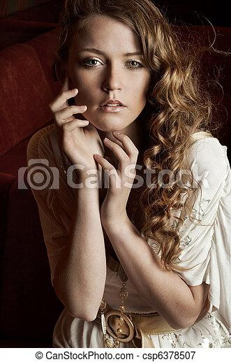 女, 魅力的, 若い - csp6378507